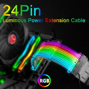 24 Pins RGB Luminous Power Extension Cable 200mm RBW ATX