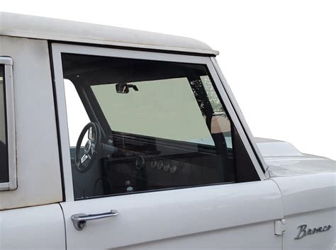 One piece side glass - 66-77 Early Bronco - 66-96 Ford