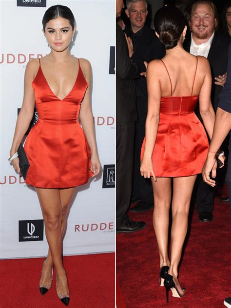 Selena Gomez At The 'Rudderless' Premiere: Red Dress By