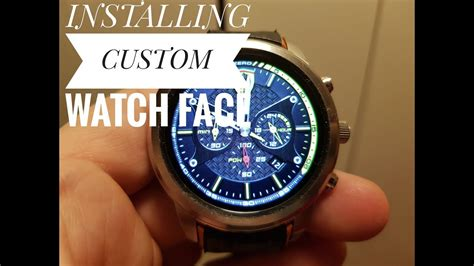 Lemfo Lem5 how to install custom watchfaces - android