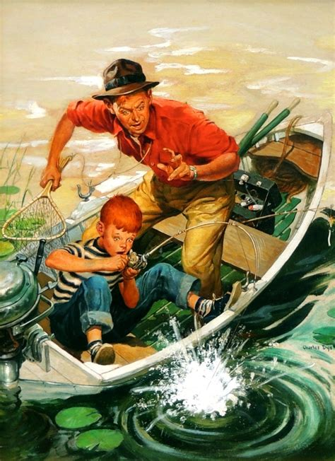 'Big Catch, Outdoor Life Magazine Cover' by Charles Dye