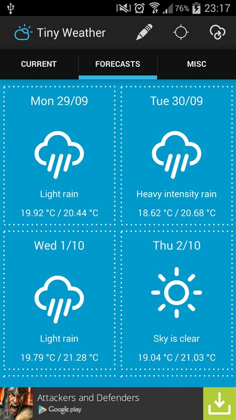 Create an Android Weather app step by step – Part 1 – All