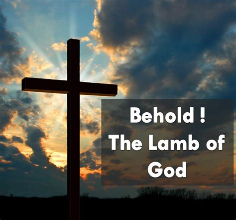 Praise the Lord Jesus Christ: Behold the Lamb of God