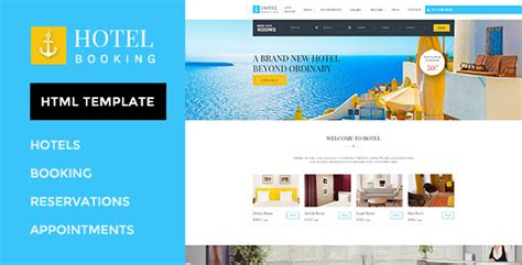 Hotel Booking - HTML Template for Hotels by WPmines